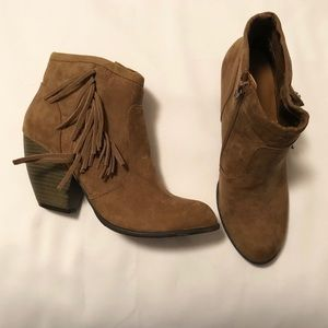 NWOB Mossimo Fringe Ankle Boots